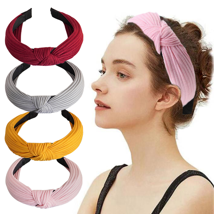 Twdvs Top Knot Turban Headband Elastic Hairband Hair Bands No Slip Stay On Knotted Head Band Hair Accessories For Women Girls