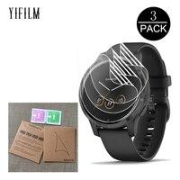 3 pacote de filme tpu para garmin vivoactive 4 4S relógio inteligente anti risco hidrogel macio claro protetor de tela cheia vivoactive4 4S|Protetores de tela| |  -