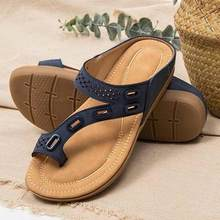 Women Casual Slippers Summer Lady Shoes Flat Anti-Slip Slippers Ethnic Shoes Plus Size 43 Sandals Female Flip Flops Ladies Shoes