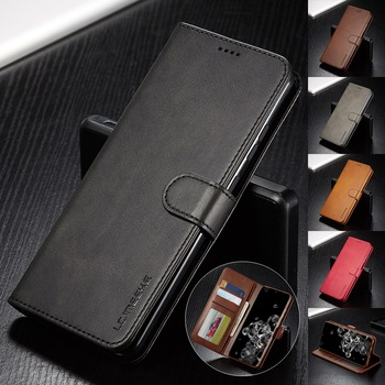 Leather Case for Samsung Galaxy S20 Ultra Plus A71 A51 A41 Note 20 10 Plus A70 A50 A20 A20e S9 S8 Plus S7 Edge Wallet Flip Cover 1