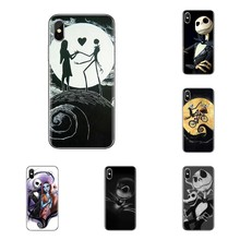 Telefoon Covers Voor LG Geest Motorola Moto X4 E4 E5 G5 G5S G6 Z Z2 Z3 G2 G3 C Play plus Mini Nightmare Before Christmas Jack Sally(China)