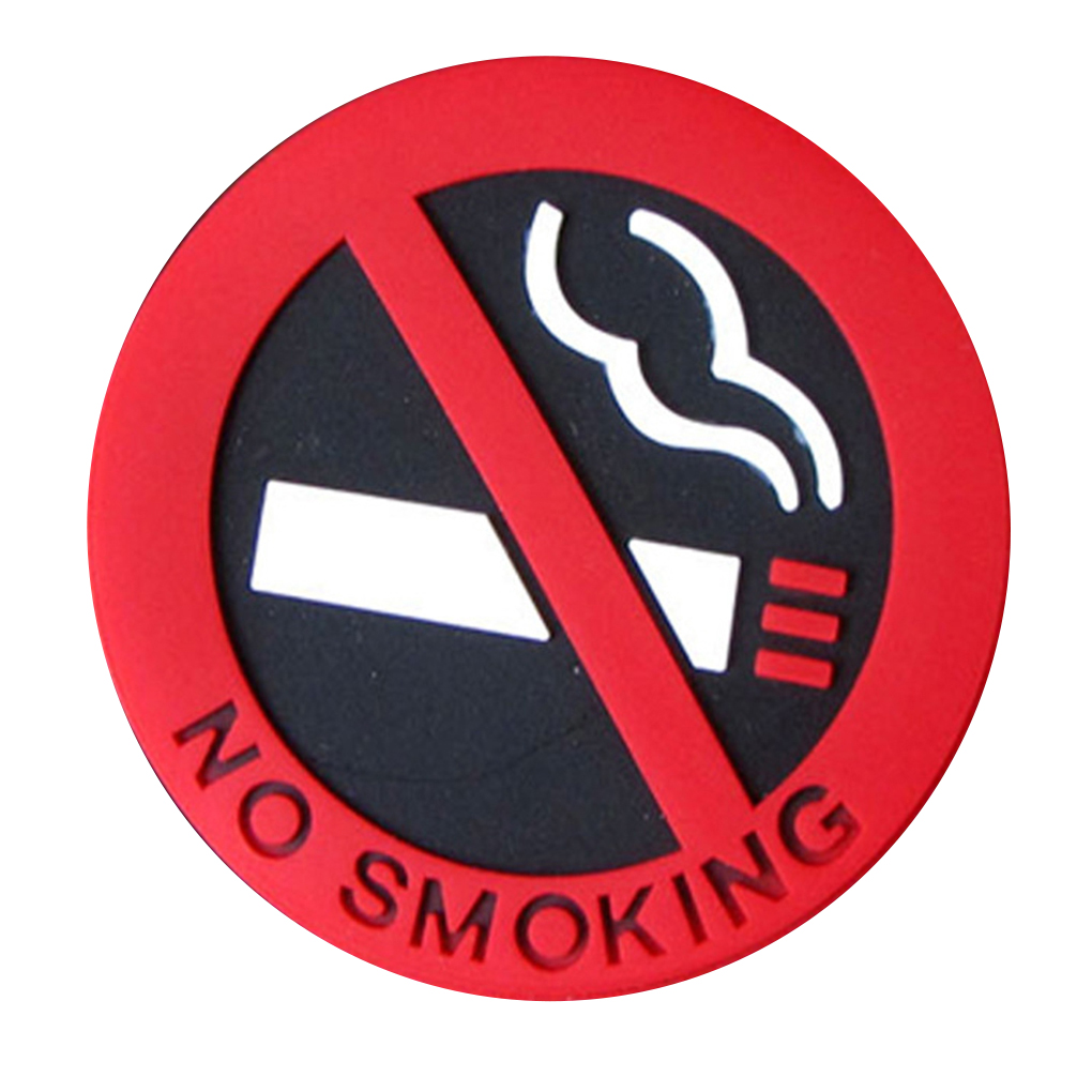 Self Adhesive No Smoking Cigarette Logo Car Sticker Station Vehicle Warning Sign PVC Decal