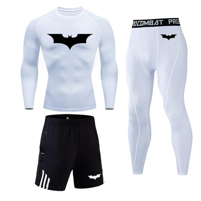 Batman Thermal Underwear Compression Sportswear Leggings Gym Shirt Tights Jogging Suits Tracksuit Men Fitness Rash Guard