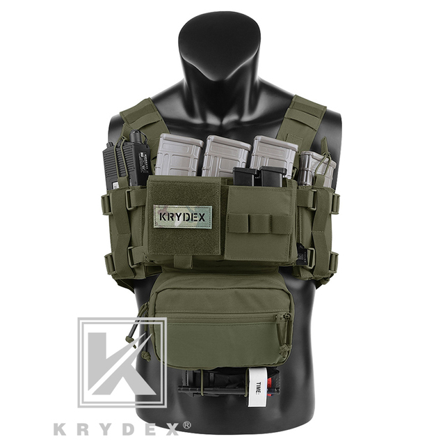 KRYDEX MK3 Modular Tactical Chest Rig Chassis Spiritus Airsoft Hunting Military Tactical Carrier Vest w/ 5.56 223 Magazine Pouch 1