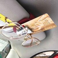Gafas de sol de estilo de coche, Clip de tarjeta, abrazadera, soporte de gafas de sol para Mini Cooper One JCW S R55 R56 F54 F60 Countryman