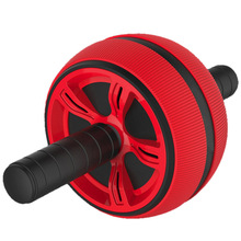 Red Large Silent Tpr Abdominal Wheel Roller Trainer Fitness Equipment Gym Home Exercise Body Building Ab