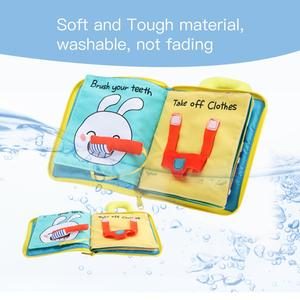 Image 5 - Beiens 3D Soft Cloth Baby Books Animals&Vehicle Montessori Baby Toys For Toddlers Intelligence Development Educational Toy Gifts