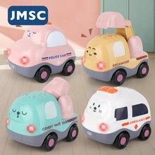 Мини-модель JMSC с голосовым управлением, полицейский милый автомобиль, самосвал, скорая помощь, бетономешалка, экскаватор, пожарная машина, д...