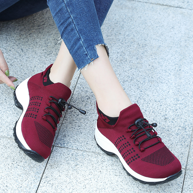 Women's Flat Shoes Breathable Casual Sneaker Woman 2020 Comfortable Female Loafers Lightweight Socks Walking Shoes Women Shoes