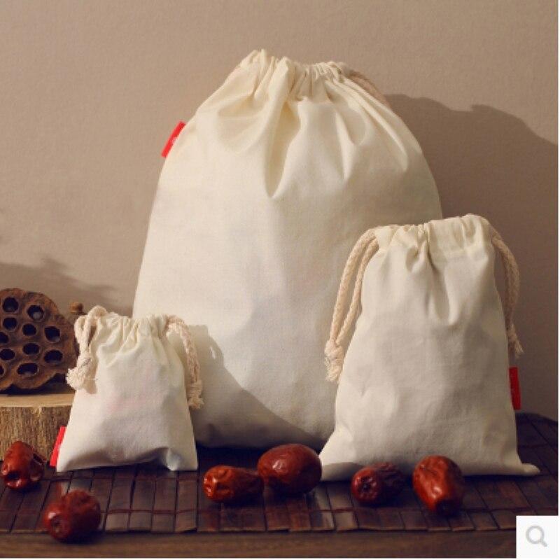 Échantillon de sac de cordon bon marché de petite taille avec 1 logo de couleur dans le matériel microfibre de toile de satin de lin de jute de coton de velours et autre - 4