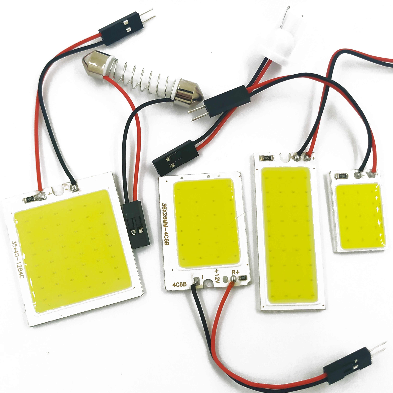 5Pcs 48 SMD COB White Panel LED T10 Car Interior Panel Light Dome Lamp Bulb NEW