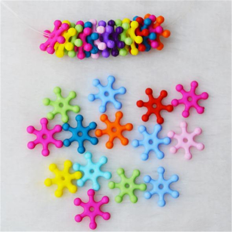 DIY Children Beaded Bracelet Material 14mm Acrylic Solid Color Light Dull Polish Acrylic Beads Children Beaded Bracelet Stamen
