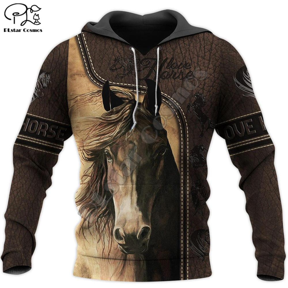 PLstar Cosmos Love Horse Tattoo Art Animal Funny Casual Streetwear Harajuku NewFashion 3DPrint Hoodies/Sweatshirts/zip/jacket 14