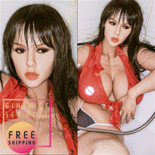 163cm (5.35ft) Human Sex Doll Big Tits Asian Girl Huge Fat Ass Full Silicone Soft Body with Built in Metal Skeleton Hot Sale