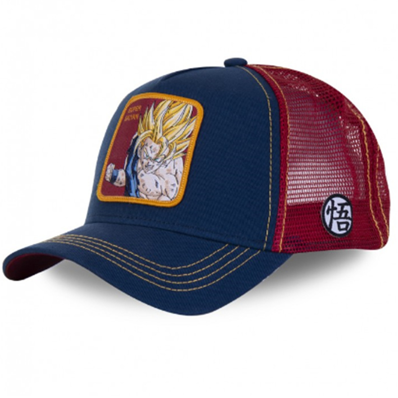 New Brand Dragon Ball Super Saiyan Snapback Cotton Baseball Cap Men Women Hip Hop Dad Mesh Hat Trucker Hat Dropshipping