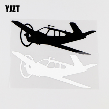 YJZT 15.7X5.8CM Pilot Side Car Stickers Vinyl Decals Aircraft Flying Aviation Black / Silver 10A-0026 image