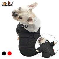 Preupet cão de estimação jaqueta de inverno roupas para cães bulldog francês quente algodão cão casaco de inverno com capuz para chihuahua ropa para perro