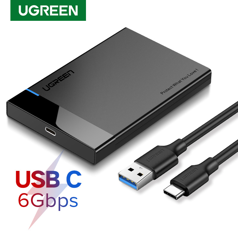 Ugreen HDD Case 2.5 <font><b>SATA</b></font> to USB 3.0 Adapter Hard Drive Enclosure for SSD Disk HDD <font><b>Box</b></font> Type C 3.1 Case HD External HDD Enclosure image