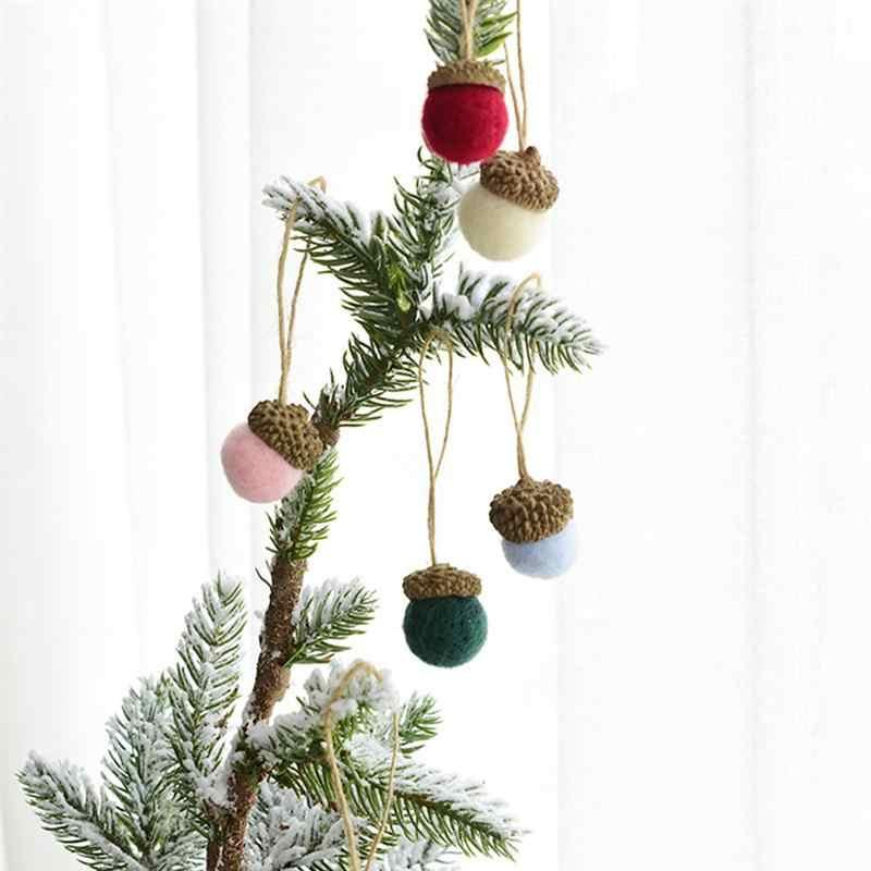6 ใน 1 Wool Felt Ball แขวนเครื่องประดับจี้ MINI DIY Felt CRAFT สำหรับคริสต์มาสอีสเตอร์งานแต่งงานตกแต่งวันหยุด