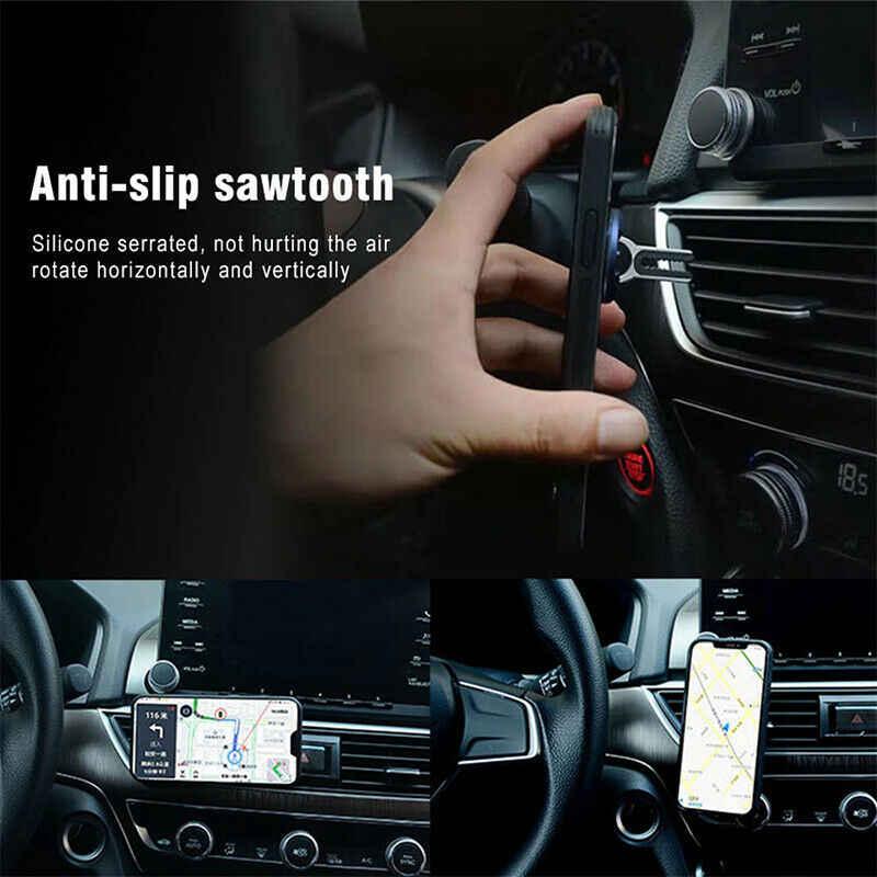 อเนกประสงค์ผู้ถือโทรศัพท์มือถือ 360 องศา Air Vent Grip ขาตั้งแหวนนิ้วมือวงเล็บสนับสนุนรถอุปกรณ์เสริม