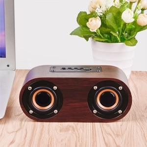 Image 2 - HIFI Wooden Bluetooth Speaker AUX Input TF Card Playback Wireless Subwoofer Portable Bass Column