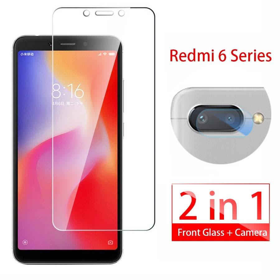 2 In 1 Tempered Glass For Xiaomi Redmi 6a Screen Protector Redmi 6 Pro Camera Lens Film Redmi6 A Redmi6a 6pro Protective Glass