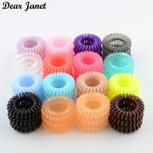 1 коробка 3,5 см Модный милый карамельный цвет телефонная линия резинка для волос Инструменты для укладки головной убор Прямая поставка