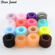 3boxes 3.5cm Fashion Cute Candy Color telephone line hair gum styling tools headwear drop shipping