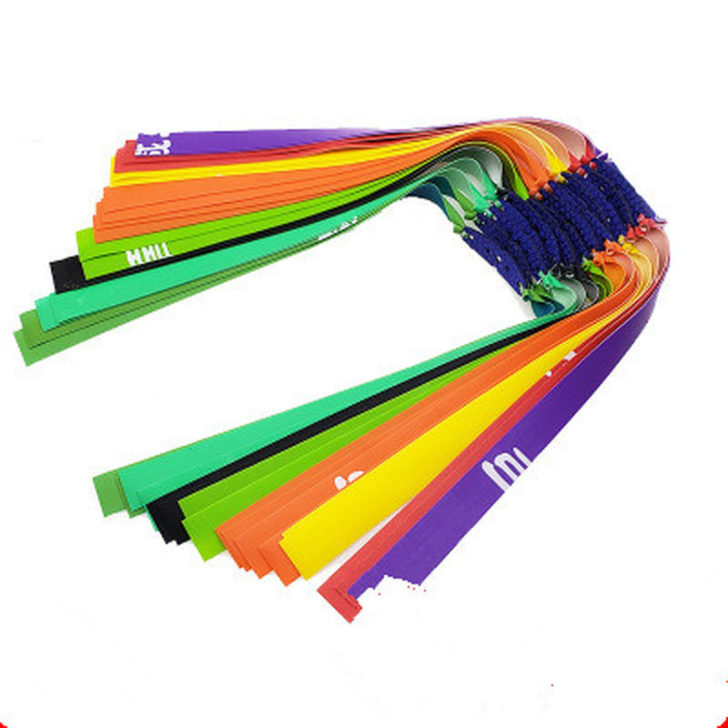 3PCS Slingshot Hunting Outdoor Flat Rubber Band Group Elastic Antifreeze Wide Skin Without Slingshot Rubber Strong Thickening