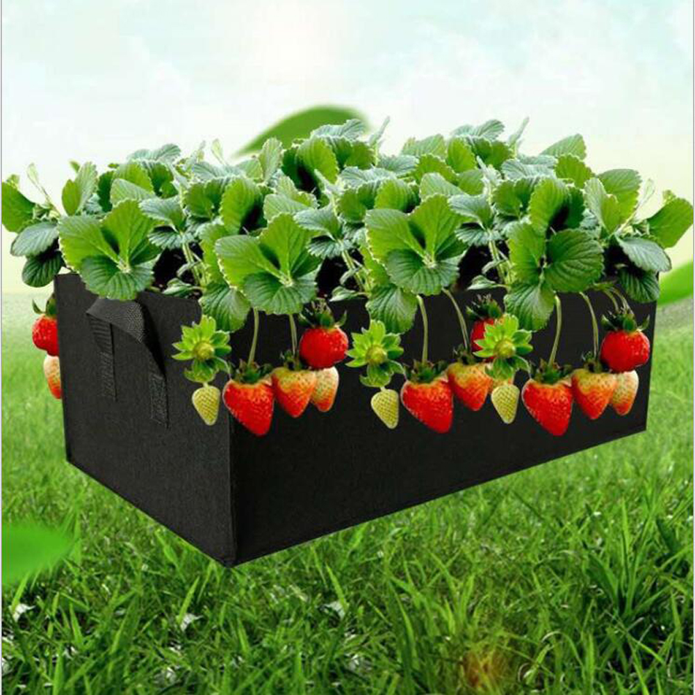 Outdoor Square Fabric Grow Bag Pot Bags Garden Planting Bags With Green Hand