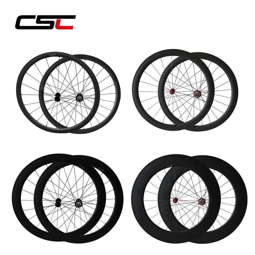 Super Light Carbon Wheels 24 38 50 60 88mm Tubular Clincher 700C Chinese Road Bike Carbon