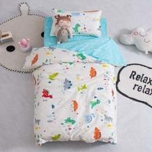 Cartoon Children Bedding Set Kids Quilt Cover Bed Sheets Baby Crib Cotton Bedding Set 3pcs/Set Without Filling