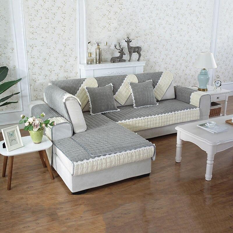 Nordic Thick Corduroy Fabric Sofa Cover