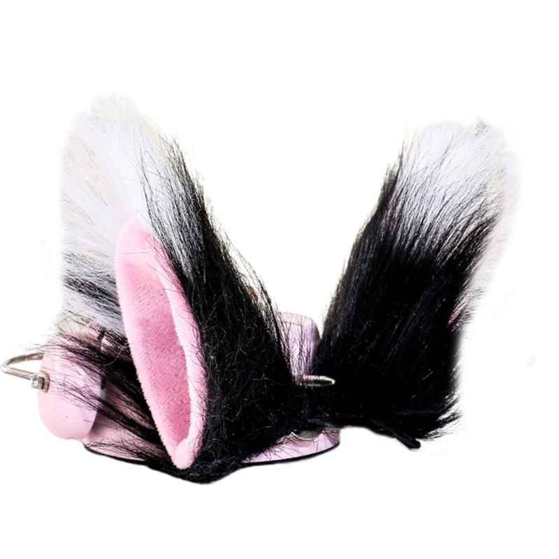 여러 가지 빛깔의 고양이 늑대 귀 긴 봉제 머리 클립 애니메이션 로리타 동물의 코스프레 의상