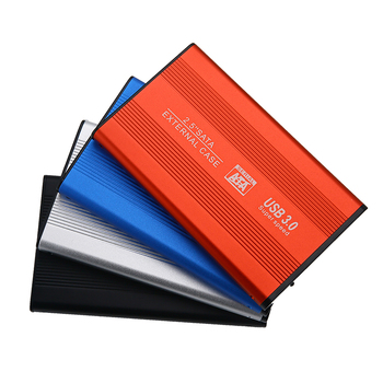 Metal USB3.0 HDD Enclosure 2.5inch  SATA SSD Hard Drive Case Support 2TB Mobile External HDD Case with USB 3.0 Cable