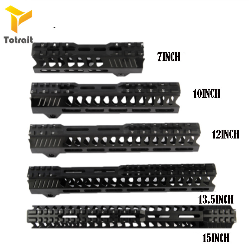Totrait Tactical 7/10/12/13.5/15 Inches Float Keymod Handguard Picatinny Rail Airsoft 15 M4 Handguard Carbine Square Mout Huntig