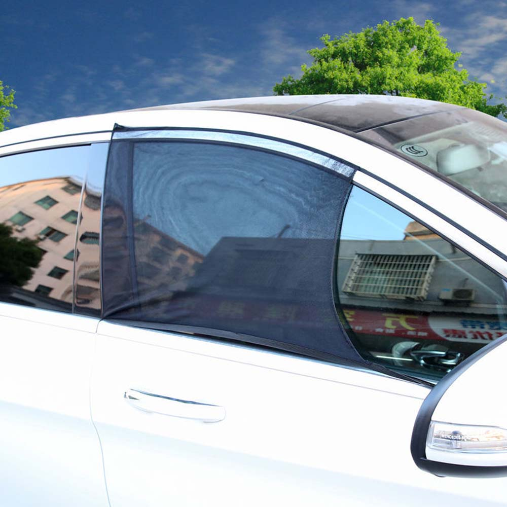 Купить с кэшбэком Universal 54*110 cm Car Window Sun Shade UV Protection Sun Shade Mesh Protection Against Mosquito Dust
