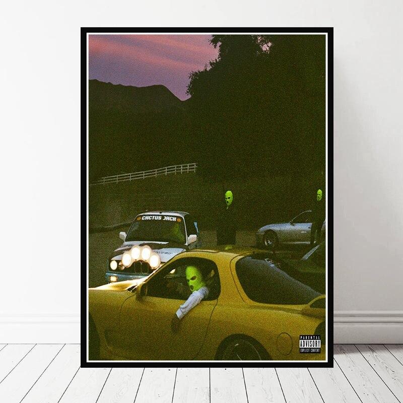 Gx318 presente jackboys & travis scott capa 2019 rap álbum de música nova pintura cartaz impressão imagem da parede lona para casa decoração do quarto