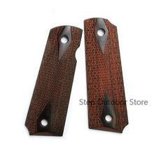 Pistola tática 1911 punhos de madeira polida, polida alta aderência personalizada material cnc 1911 acessórios 2 peças