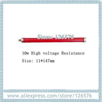 10pcs/Lot High voltage Resistance 10w , Round Glass glaze metal film resistor red color