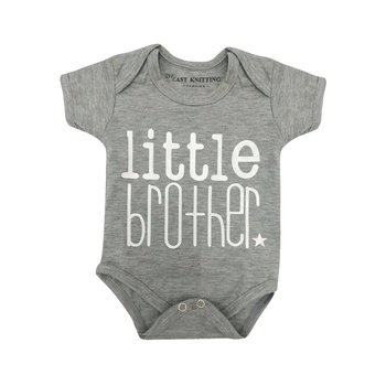 Cotton Baby Boys Girls Short Sleeve Romper Solid Little Brother Letter Printed Bodysuit Casual Infan