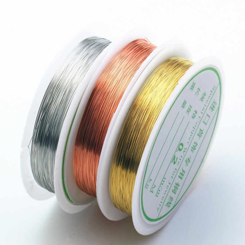 Hot 0.3/0.41mm Silver Gold Color Alloy Cord Beading Wire DIY Craft Making Jewelry Earring Pendants Cord String Accessories
