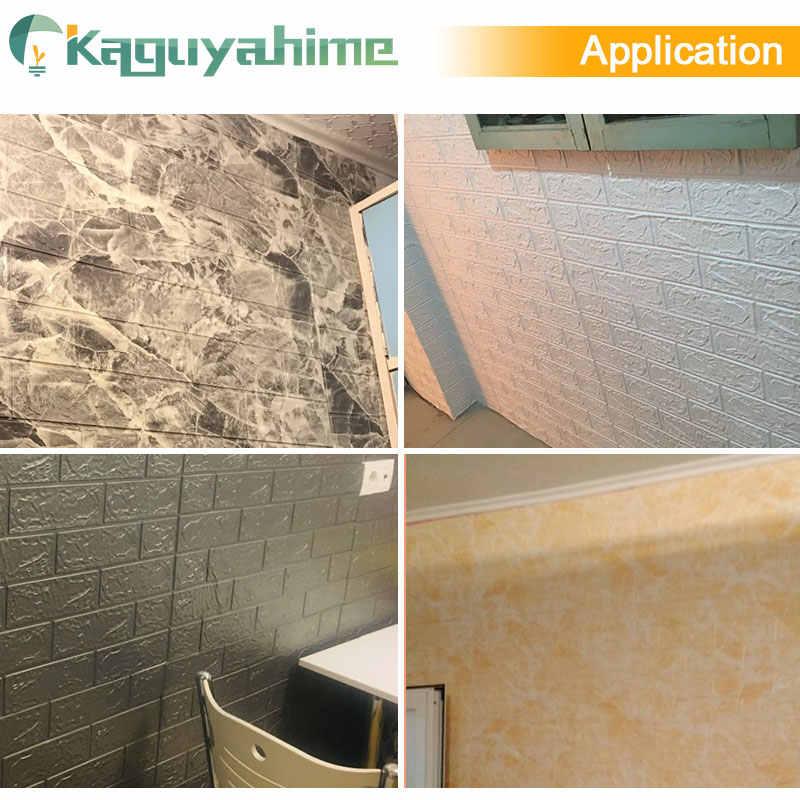 Kaguyahime 3D קיר מדבקות DIY עצמי דבק טפט עמיד למים טפט בריק רקע תפאורה לסלון מדבקה