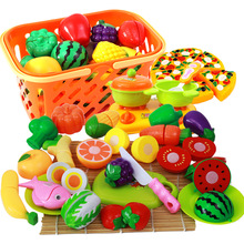 Play House Simulation Cut Fruits Toys Vegetables Cut Everything Watching and Having Fun Baby Girl Kitchen Chopping Vegetables