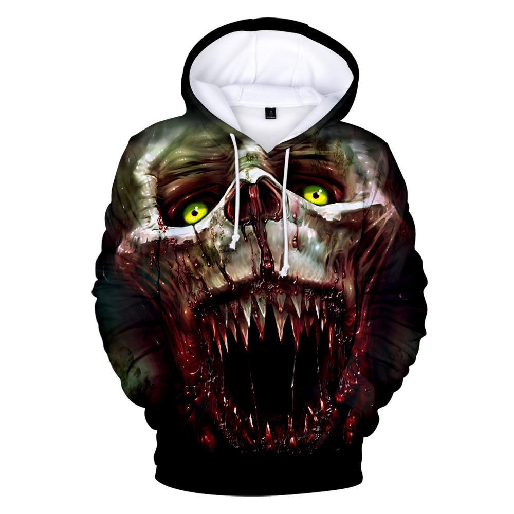 Halloween Horror Style 3D Skull Hoodies Men/Women Classic Thriller Movie Halloween 3D Hoodies Personality Sweatshirt image