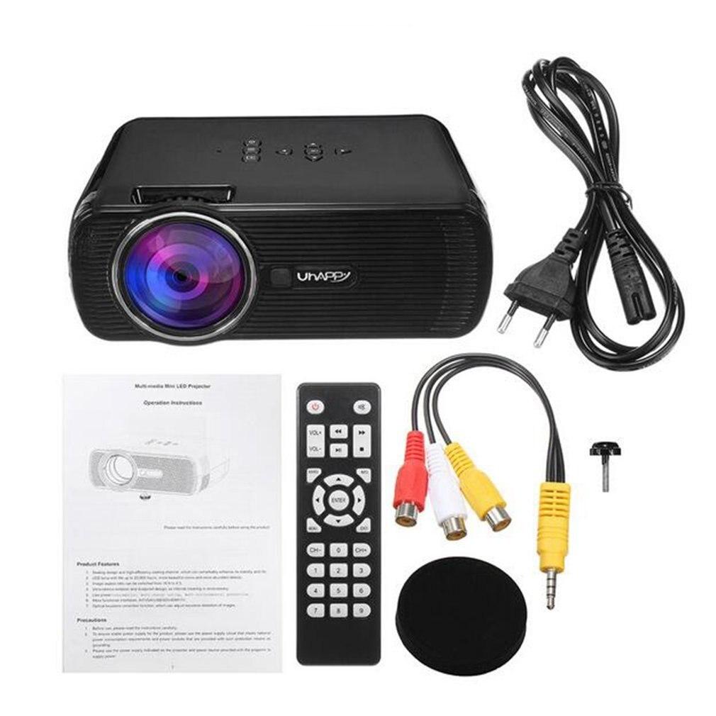 Projecteur numérique Portable LED U80 1080P HD vidéo Photo lecteur multimédia projecteur Home cinéma