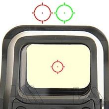 Mira telescópica holográfica para caza, mira telescópica táctica con punto rojo y verde, 551, 552, 553, reflejo de punto rojo, con montaje de 20mm