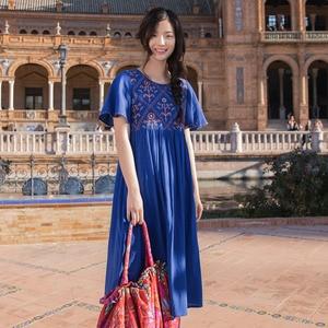 Image 3 - Женские платья INMAN, хлопковые свободные платья с высокой талией и круглой шеей в стиле ретро