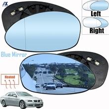 Espejo retrovisor de ángulo amplio para coche, accesorio para BMW E90 E91 E87 E88 2004 2009 E46 lado izquierdo + derecho, azul y blanco