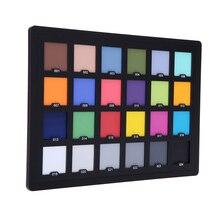 Tarjeta de equilibrio de prueba estándar, tablero de paleta para corrección de fotografía, 24 colores